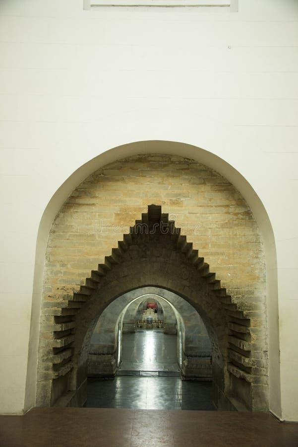 Azja chińczyk, Pekin, Ming dynastii Tombsï ¼ Œunderground palaceï ¼ ŒUnderground grobowiec zdjęcie stock