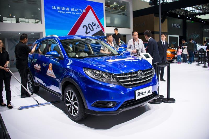 Azja Chiny, Pekin, 2016 międzynarodowych samochodów wystaw, salowa automobilowa indexhibition sala, SUV, fengguang580 zdjęcia royalty free