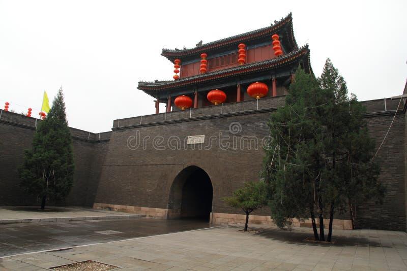 Azja, Chiny, Pekin, Południowy miasto, antykwarscy budynki, zdjęcia stock