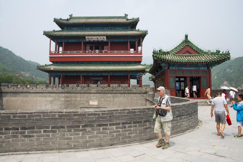 Azja Chiny, Pekin wielki mur Juyongguan, architectureï ¼ ŒSouth bramy wierza obraz royalty free