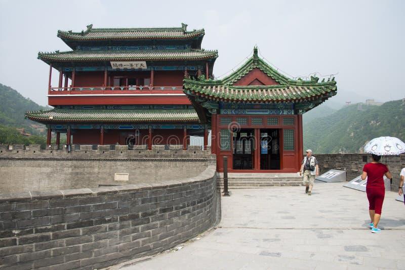 Azja Chiny, Pekin wielki mur Juyongguan, architectureï ¼ ŒSouth bramy wierza zdjęcia royalty free