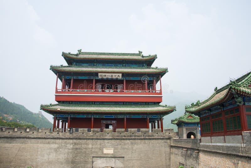 Azja Chiny, Pekin wielki mur Juyongguan, architectureï ¼ ŒSouth bramy wierza zdjęcie stock