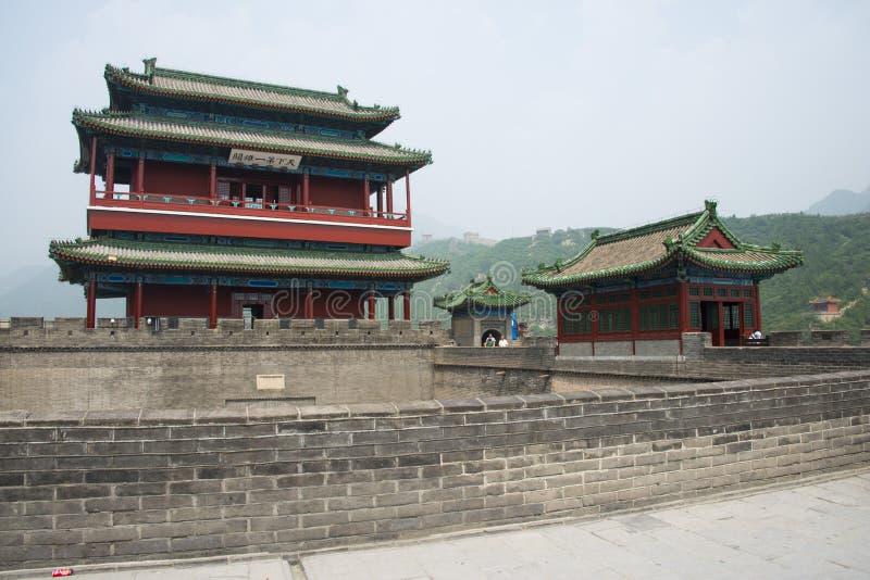 Azja Chiny, Pekin wielki mur Juyongguan, architectureï ¼ ŒSouth bramy wierza fotografia royalty free