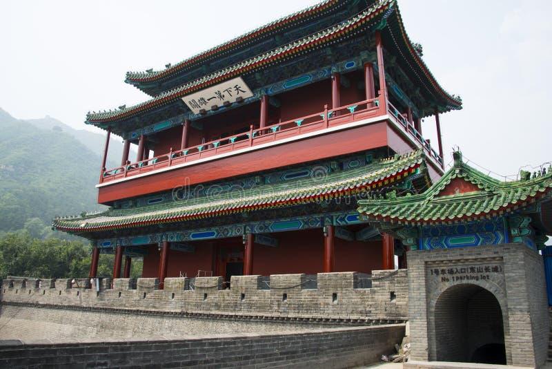 Azja Chiny, Pekin wielki mur Juyongguan, architectureï ¼ ŒSouth bramy wierza zdjęcia stock