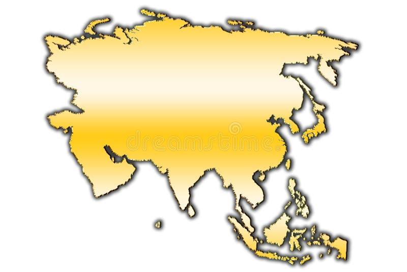 Azja konturu mapa obrazy royalty free