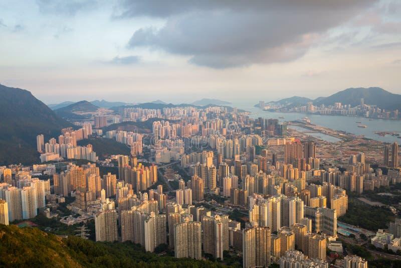 Azja miasto z ruchem drogowym zdjęcia stock