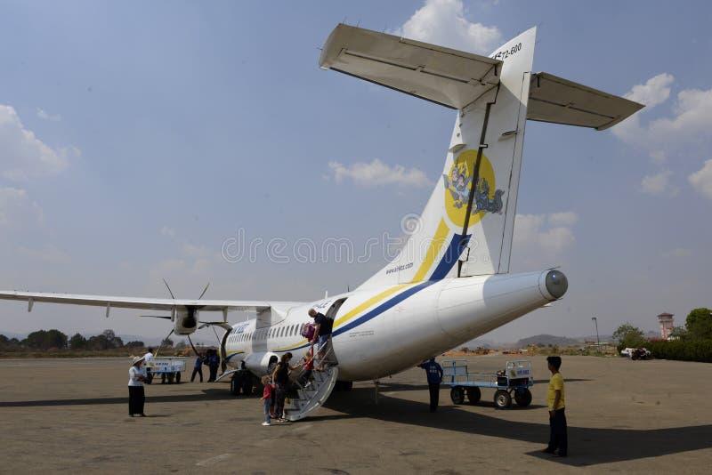 AZJA MYANMAR powietrze KBZ zdjęcia royalty free