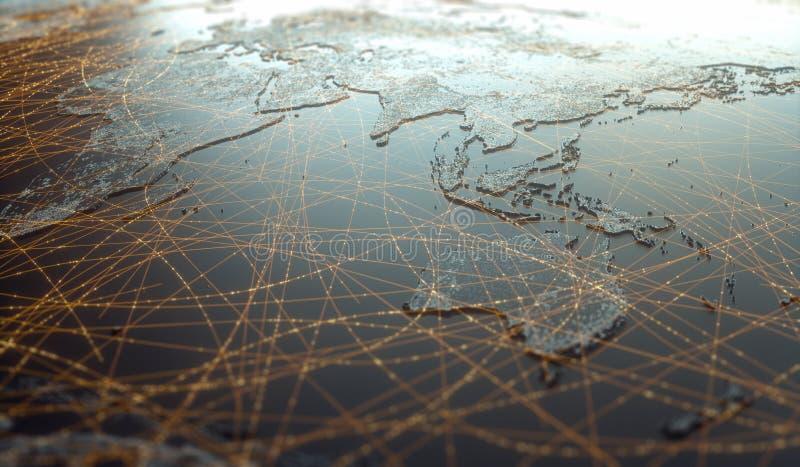 Azja Oceania Digital Technology Connectivity World Wide Web obrazy stock