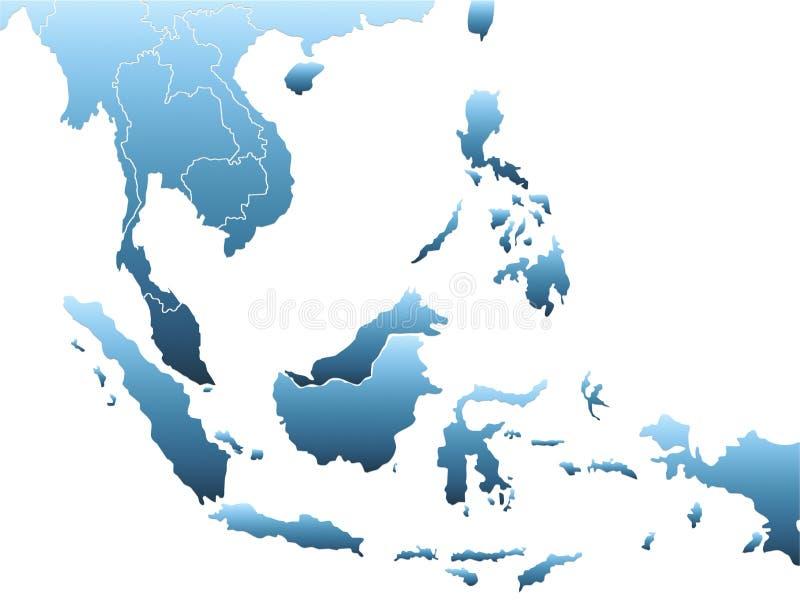 Azja Południowo-Wschodnia mapa royalty ilustracja