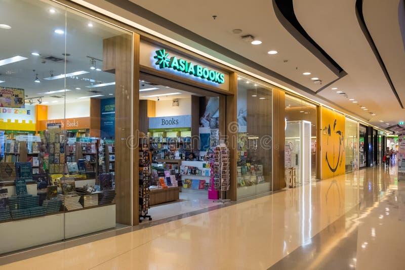 Azja Rezerwuje w CentralPlaza Rama 9 du?y mi?dzynarodowy online bookstore w Tajlandia zdjęcie stock