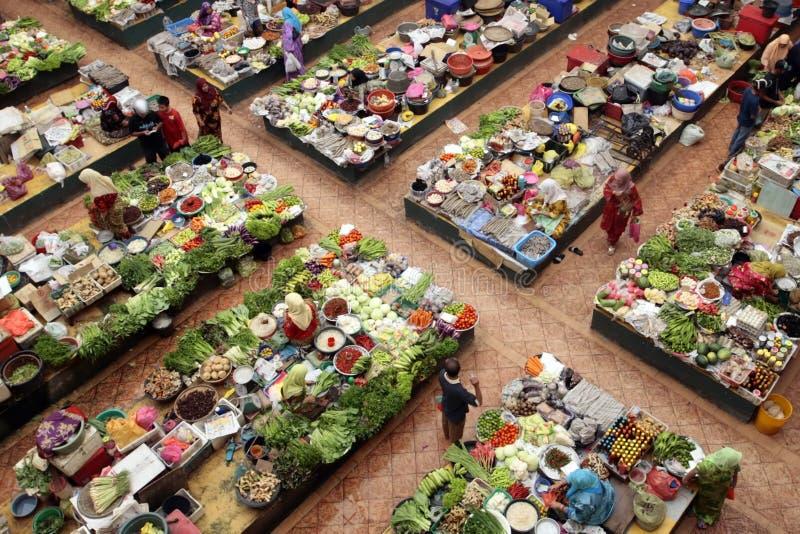 azjaci rynku zdjęcie royalty free