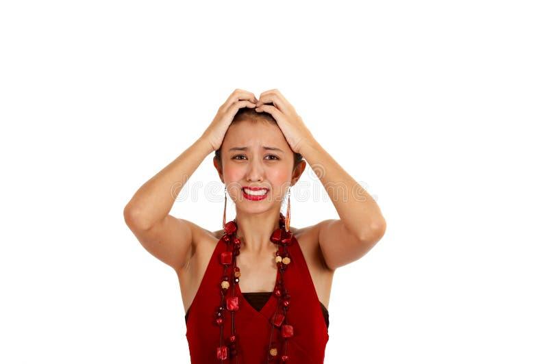 azjaci zmieszana kobieta zdjęcie stock