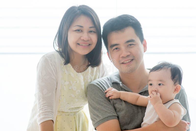 Azjata berbeć i rodzice obrazy stock