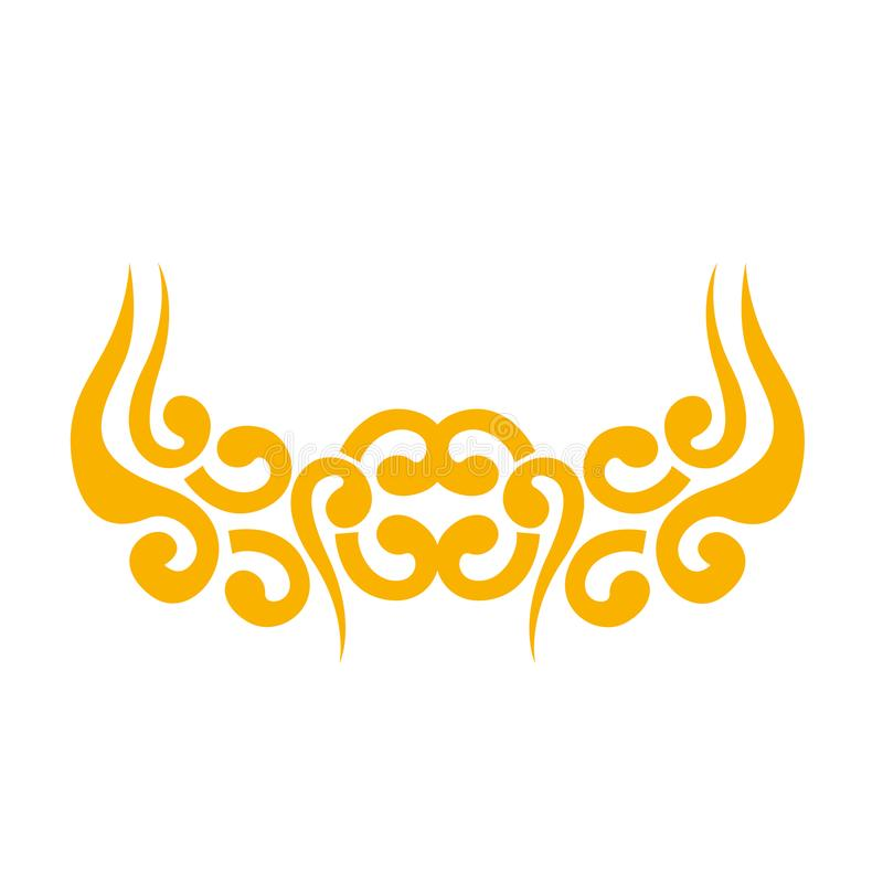 Azjata chmurnieje ikonę ilustracji