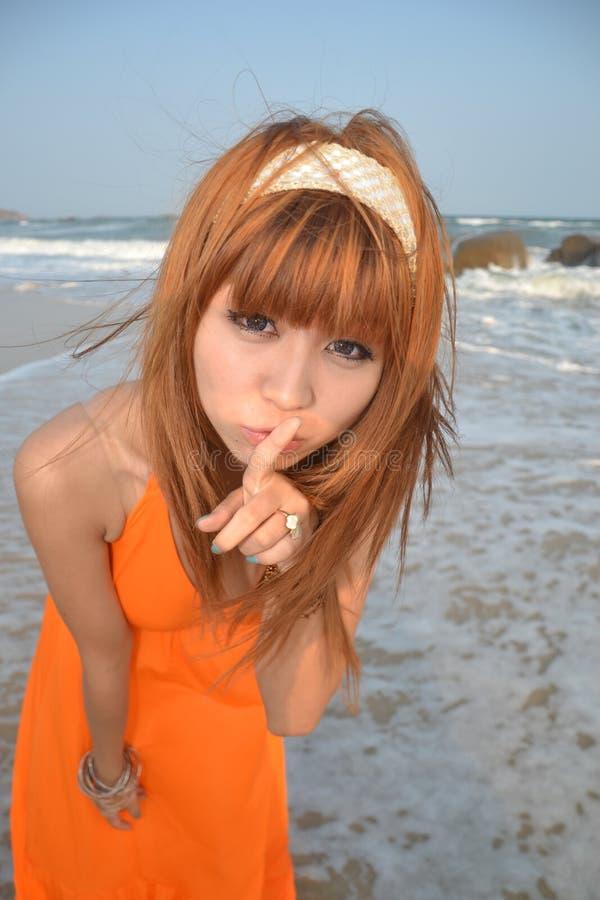azjata dziewczyna plażowa piękna zdjęcia royalty free