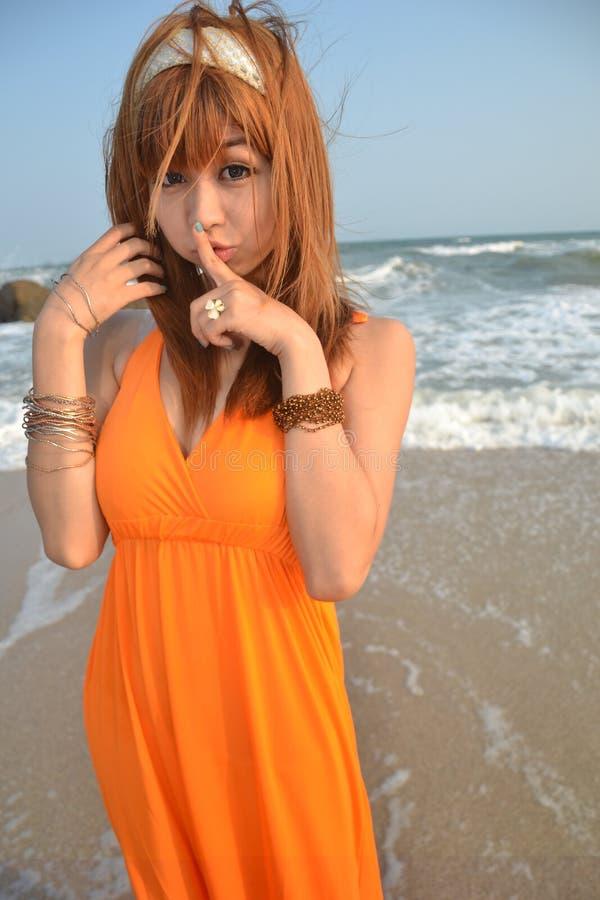 azjata dziewczyna plażowa piękna obrazy stock