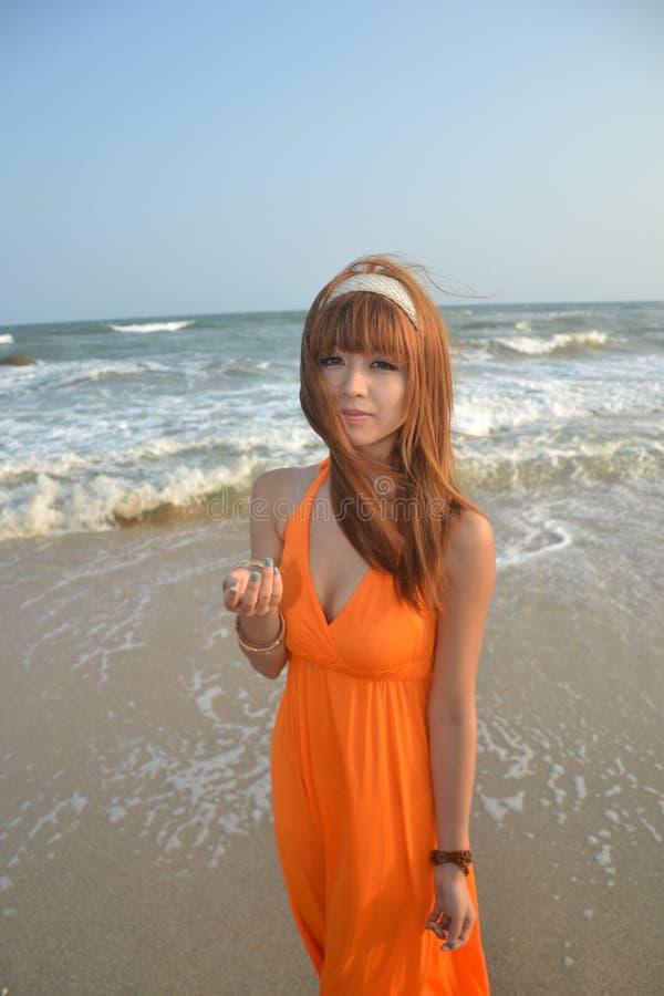 azjata dziewczyna plażowa piękna zdjęcie royalty free