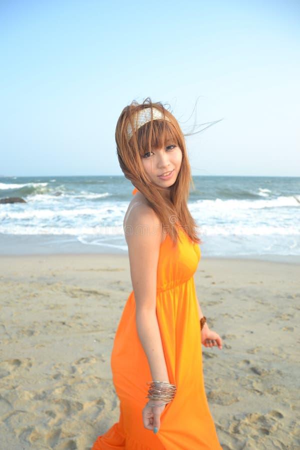 azjata dziewczyna plażowa piękna fotografia royalty free
