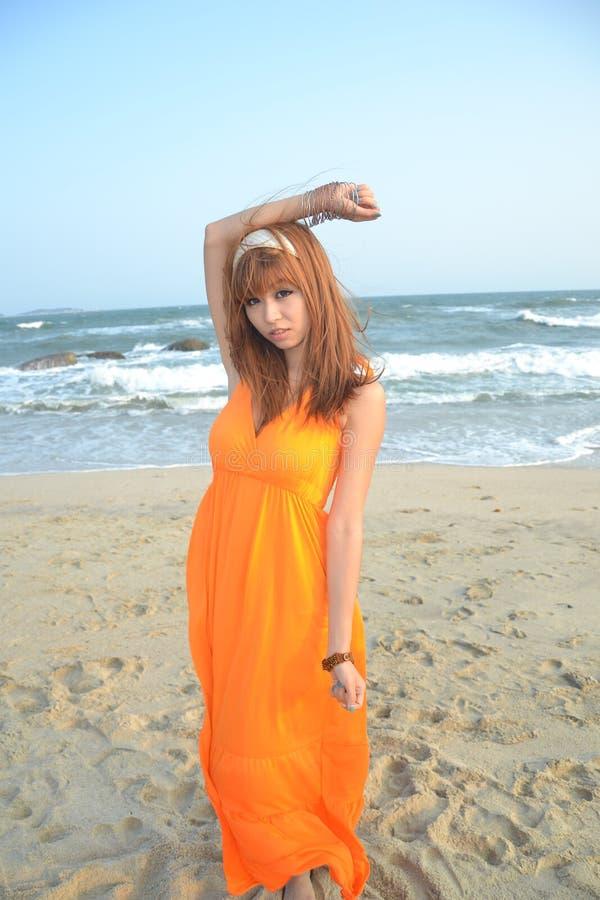azjata dziewczyna plażowa piękna zdjęcia stock