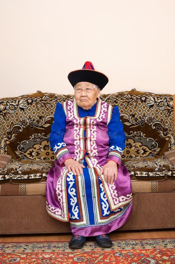 azjata dziewiećdziesiąt starej kobiety rok fotografia stock
