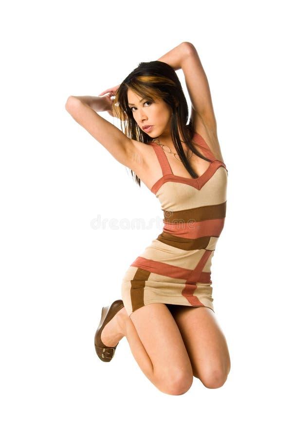 azjata kobieta smokingowa mini zdjęcia stock