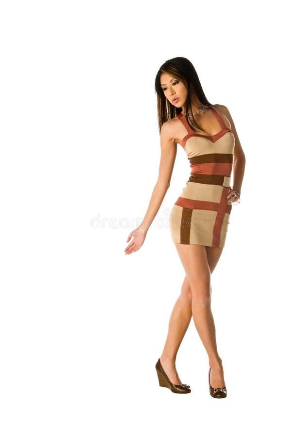 azjata kobieta smokingowa mini obrazy stock