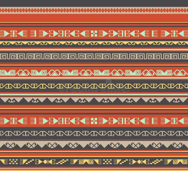 Azjata ornamentuje bezszwowego ilustracji