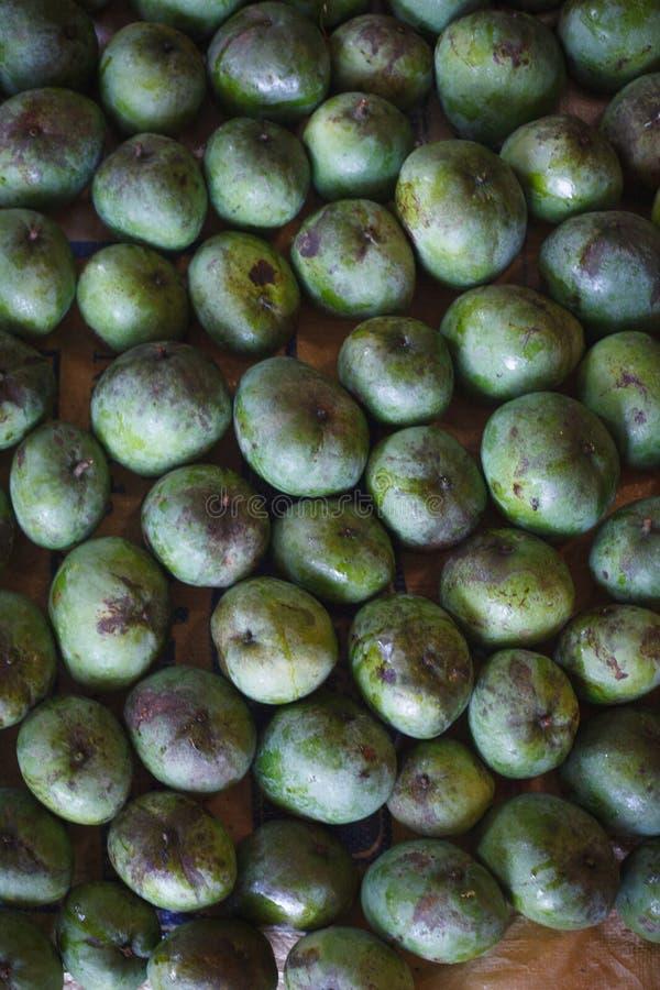 Azjata rynek, egzotyczne owoc obraz stock
