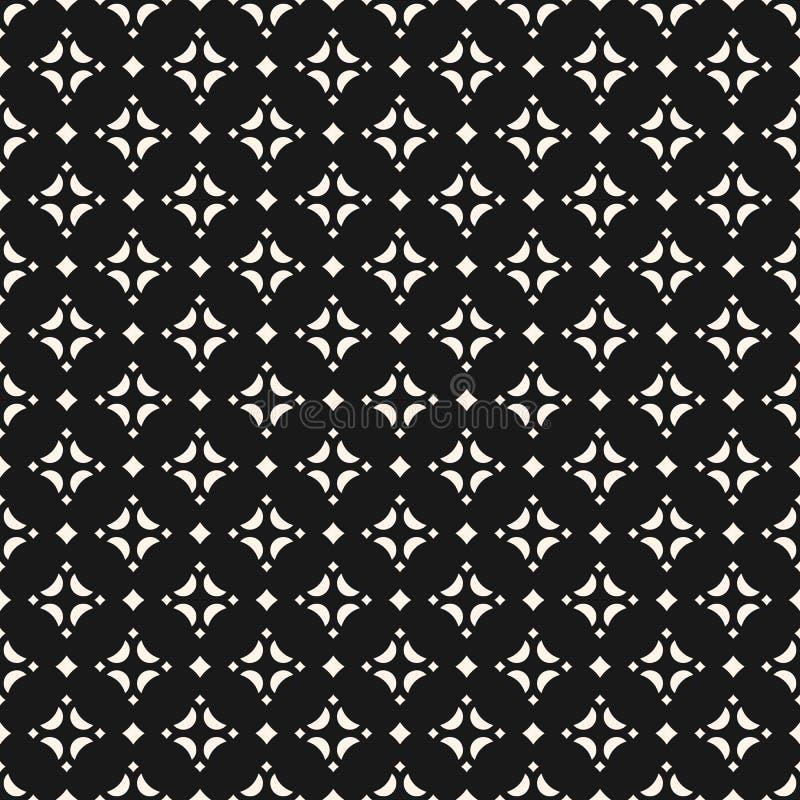 Azjata stylowy ornamentacyjny bezszwowy wzór z diamentów kształtami, gwiazdy ilustracji