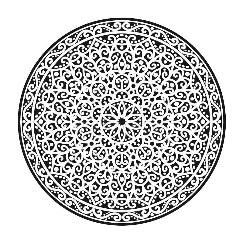 Azjata wzór, mandala ilustracja wektor
