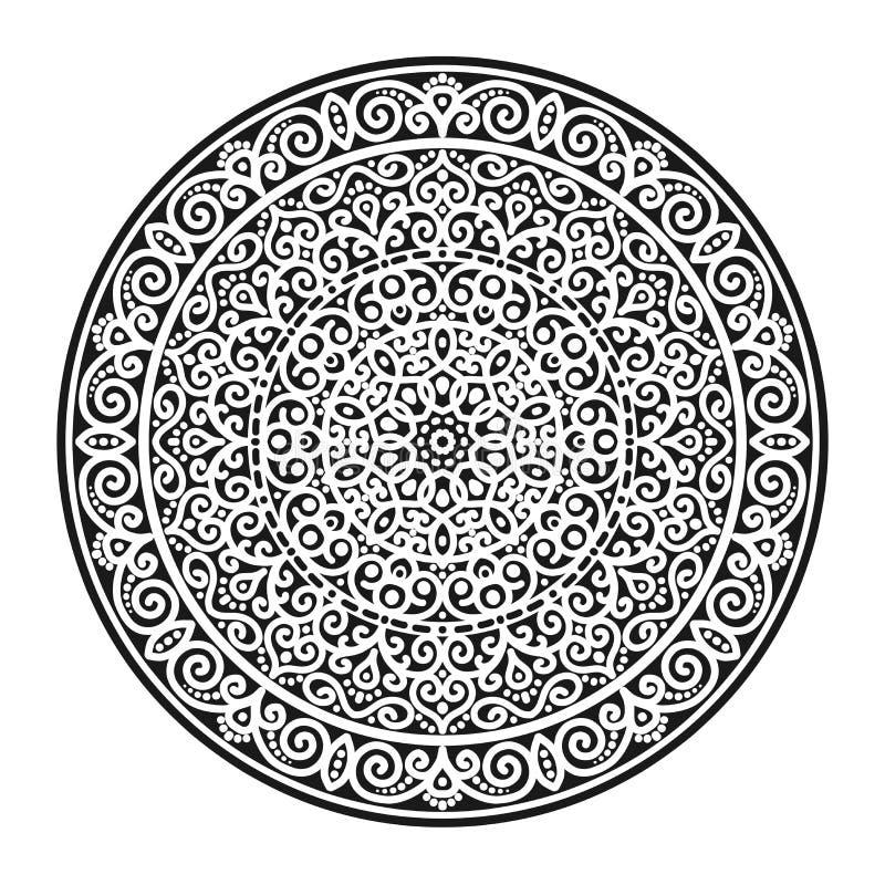 Azjata wzór, mandala royalty ilustracja
