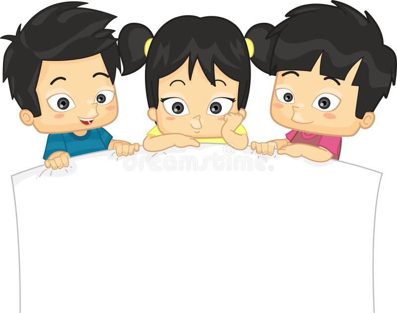 Azjatyccy dzieciaki royalty ilustracja