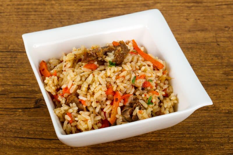 Azjatyccy ryż - Plov zdjęcia stock