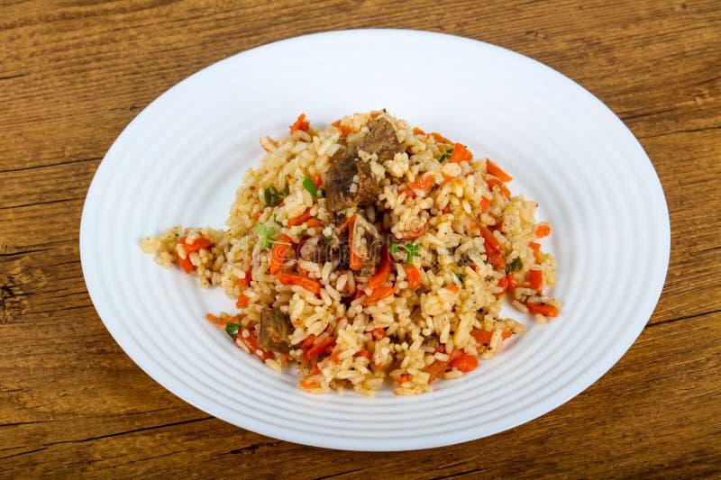 Azjatyccy ryż - Plov obrazy stock