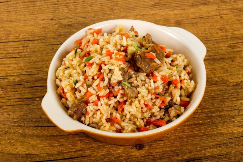 Azjatyccy ryż - Plov fotografia stock