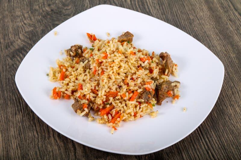 Azjatyccy ryż - Plov zdjęcie royalty free