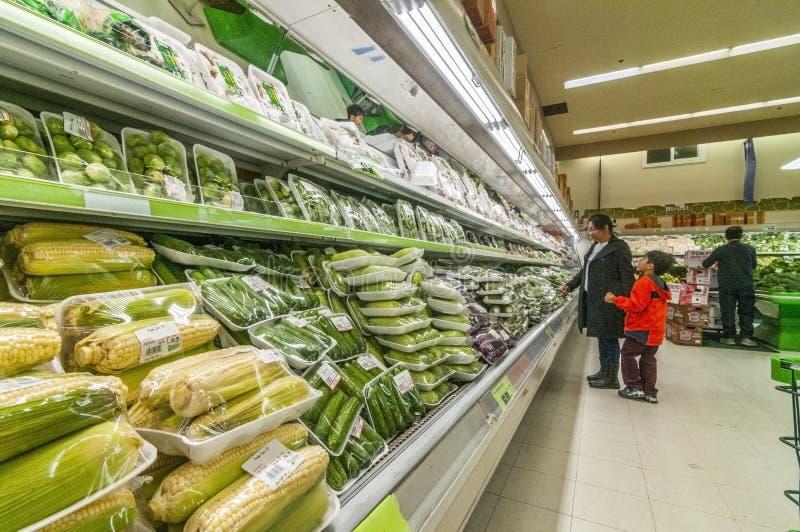 Azjatyccy sklepy spożywczy zdjęcia royalty free