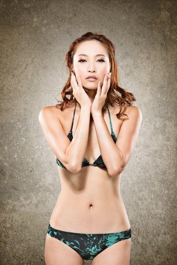 Azjatycka bikini kobieta obraz royalty free
