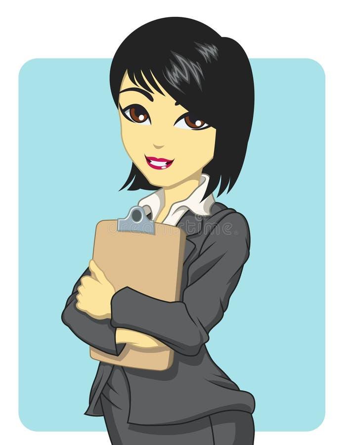Azjatycka biznesowa kobieta ilustracji