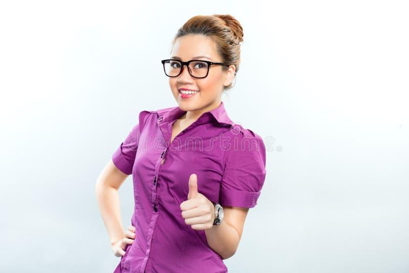 Azjatycka Biznesowa kobieta ma sukces zdjęcie stock
