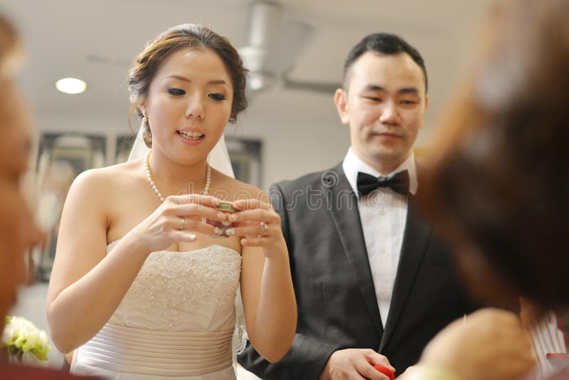 Azjatycka Chińska ślubna herbaciana ceremonia zdjęcie royalty free