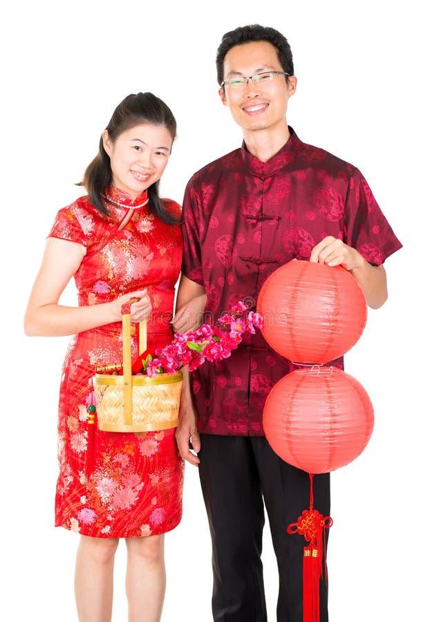 Azjatycka Chińska para obraz stock