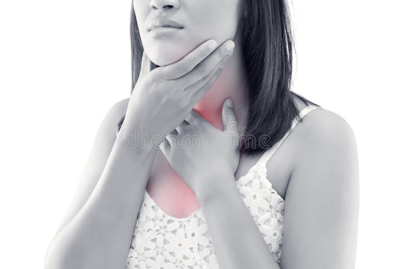Azjatycka kobieta tarczycowego gruczołu kontrola zdjęcie royalty free
