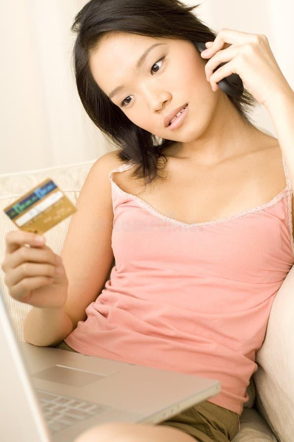 Azjatycka Kobieta W Domu zdjęcie royalty free