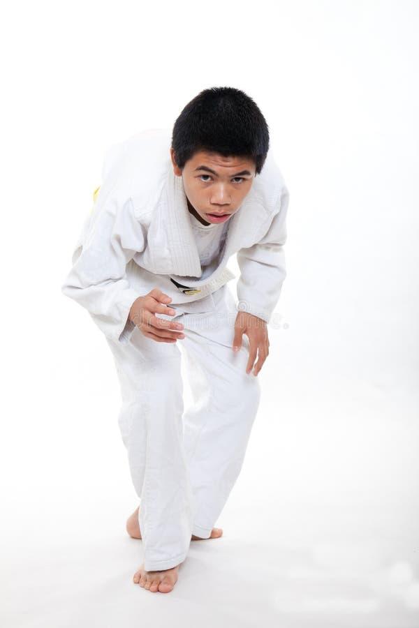 Azjatycka nastoletnia szkoły średniej chłopiec obraz royalty free