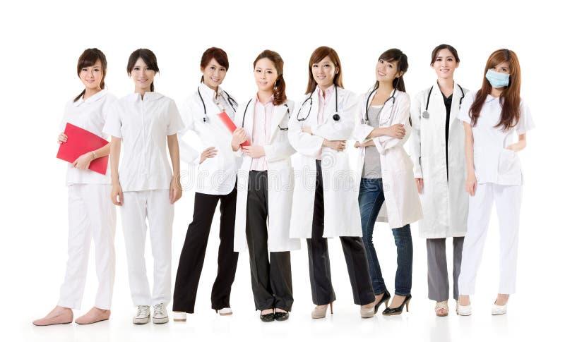 Azjatycka opieki zdrowotnej drużyna zdjęcia royalty free