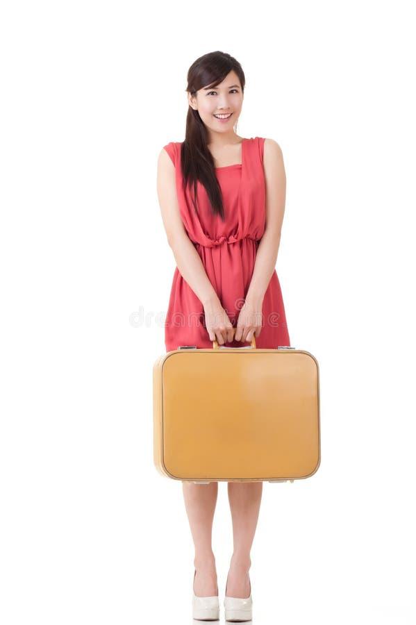 Azjatycka podróżna kobieta obrazy royalty free