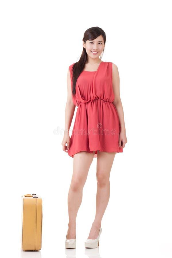 Azjatycka podróżna kobieta obraz stock
