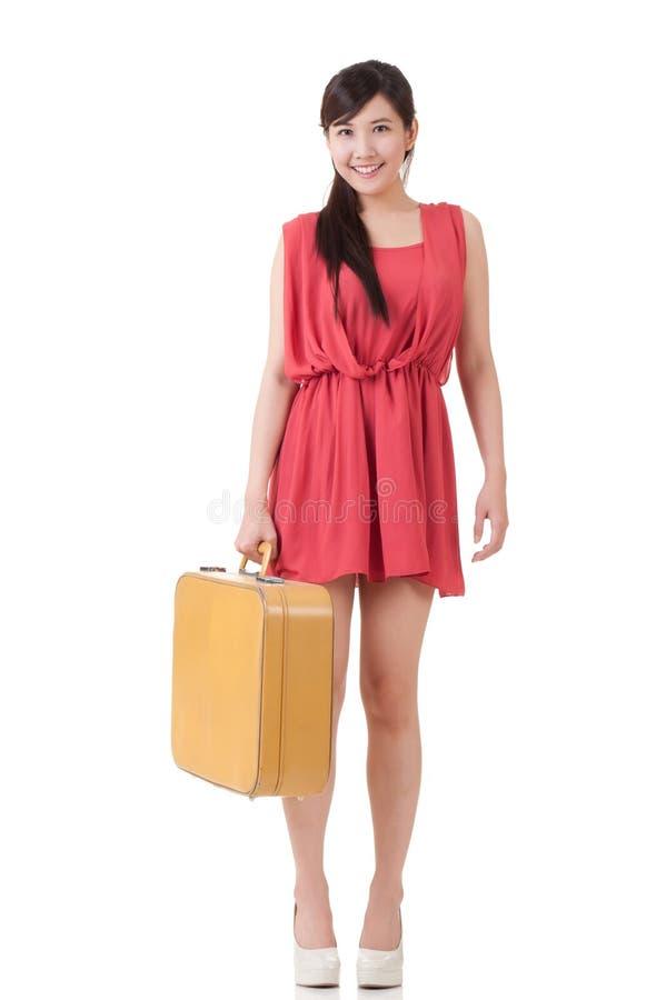 Azjatycka podróżna kobieta zdjęcie stock