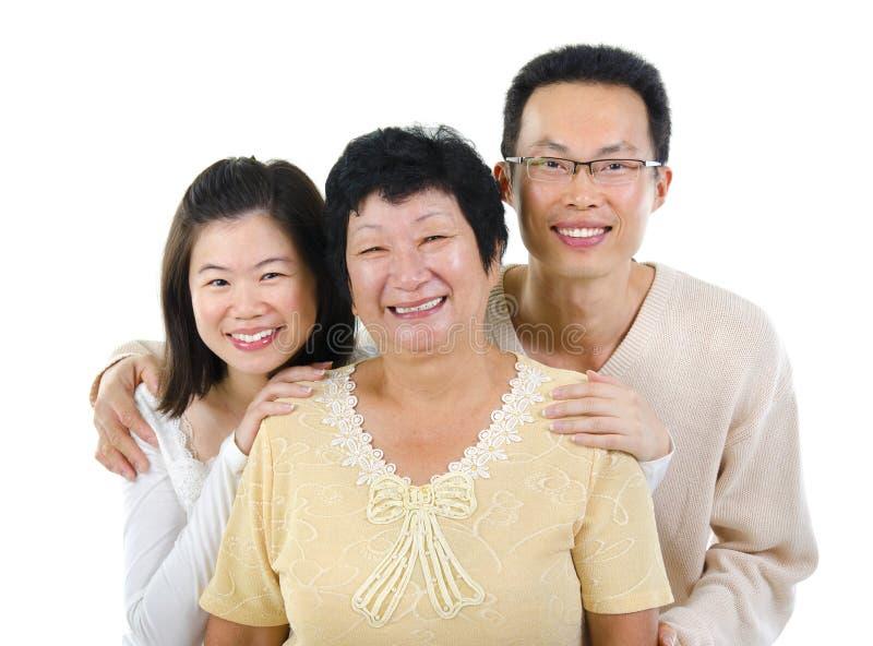 Azjatycka rodzina obrazy royalty free